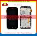 Лучшее Качество Оригинала Для HTC Desire X T328e Жк-Дисплей С Сенсорным Экраном Дигитайзер Сборки Полного + Рамки Черный