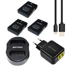 3x EN-EL14 ENEL14 EN EL14 Batteries & double chargeur USB & ue/US adaptateur secteur pour Nikon D5200 D3100 3200 D5100 P7000 P7100
