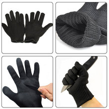 Cut Resistant Gloves Stainless Steel Wire Safety Work Anti-Slash Cut Static Wear-resisting Protect Gloves Hand Safely Security