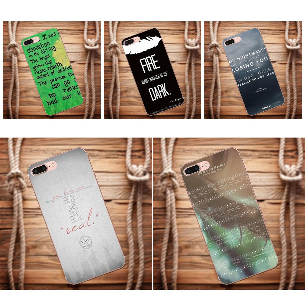 Vvcqod For Galaxy Alpha Core Prime Note 4 5 8 S3 S4 S5 S6 S7 S8 S9 mini edge Plus Soft Phone Cases Cover Hunger Games Quotes