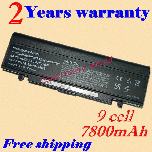 Jigu nueva portátil batería aa-pb9nc6w/e aa-pl2nc9b para samsung r610 r65 R70 R700 R710 X360 X460 X60 X65R39-DY06 R40 R45 R410 P60