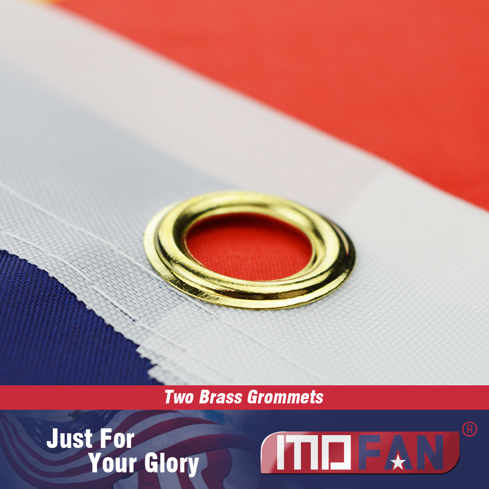MOFAN US Flag American National Flag- Canvas Header and Double - Heminredning - Foto 4