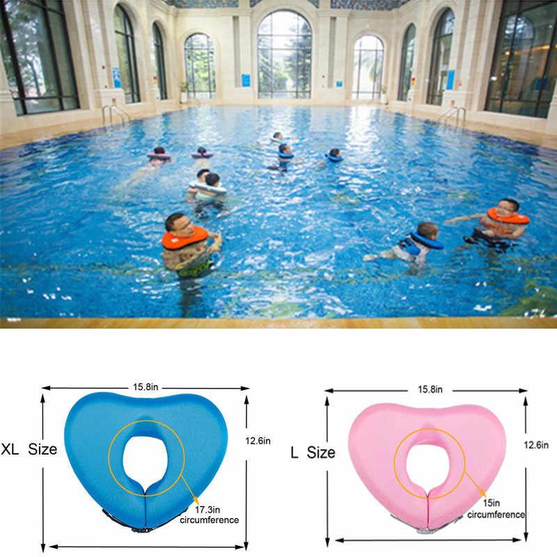 Verano 2018 flotador de natación de cuello para niños ejercicios de entrenamiento de baño acuático divertido juguete de piscina se adapta a adultos y adolescentes