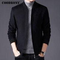 COODRONY Men Coat Winter Thick Warm Wool Coat Men Clothes 2018 Slim Fit Pea Coat Mandarin Collar Jacket Overcoat Mens Coats C004