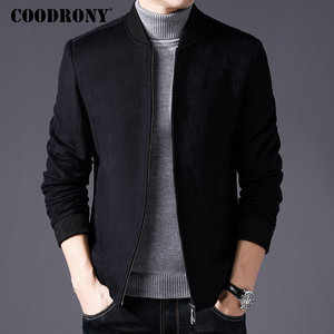 COODRONY Men Coat Winter Thick Warm Wool