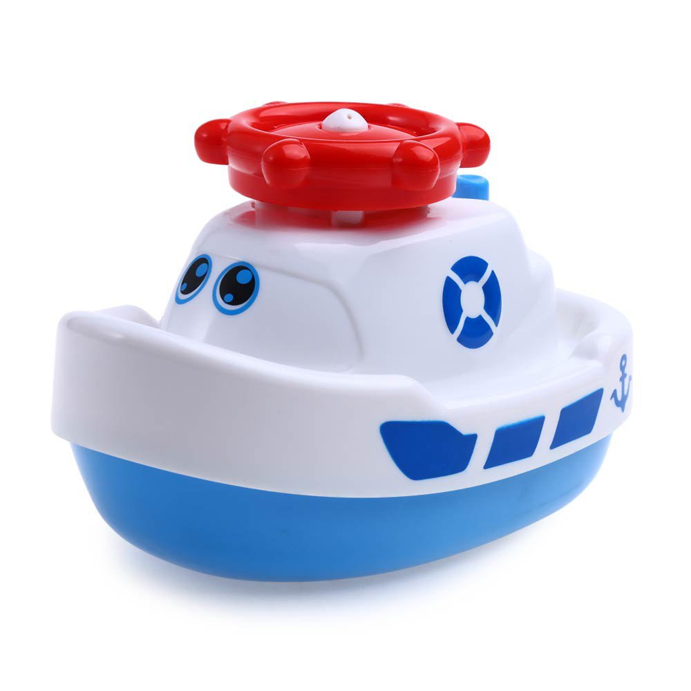 HOT Safe Baby Rotary Automatic Electric Sprinkler Steamboat Water Spray Bath Toys Boat Swimming Bath Toys For Boys Girls