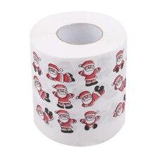 Рулон Ткани Рождественский Декор рулонная бумага Новая мода Санта Счастливого Рождества узоры туалетная бумага домашняя Ванна гостиная туалетная бумага