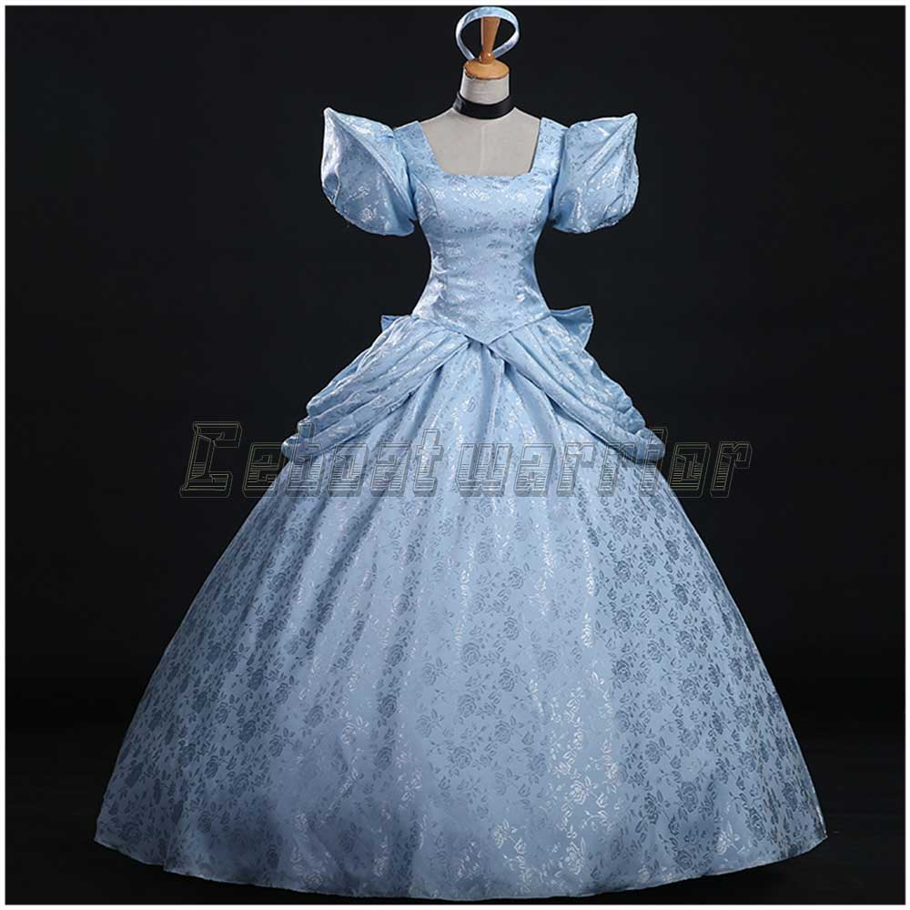 Movie Cinderella cosplay costume cinderella girl adult blue wedding dress Custom made-in Movie & TV costumes from Novelty & Special Use on ...