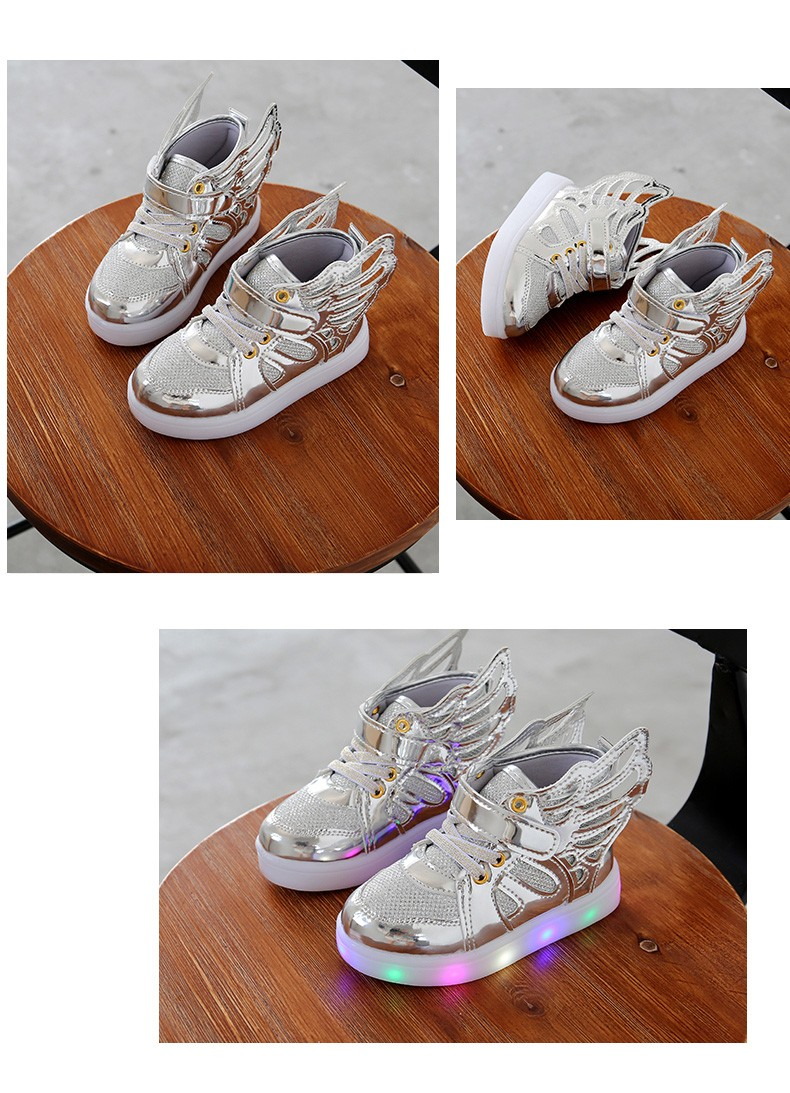 17 Autumn Kids LED luminous Sneakers Glowing Brand Child Breathable Light Flashing Baby Boys Casual Shoes for girl size 21~30 9