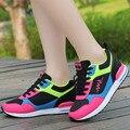Canasta Femme 2016 Mujeres Gril Krasovki Tacones Altos Barato Zapato de Aire Para mujeres Gumshoe Código Para Gimnasio Zapato Femme Boty Señora de la Marca YS x114