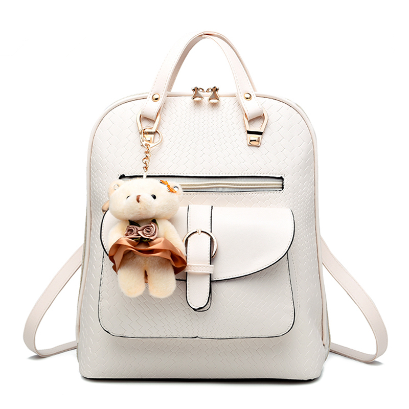 MONNET CAUTHY Ladies Bags Concise Sweet Leisure New Fashion Girls Backpacks Candy Color Beige Sky Blue Pink Lavender Black Bag рюкзак hama sweet owl pink blue