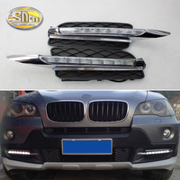 For BMW E70 X5 2007 2008 2009 2010 No error Daytime Running Light LED DRL fog lamp Driving 12V relay Waterproof