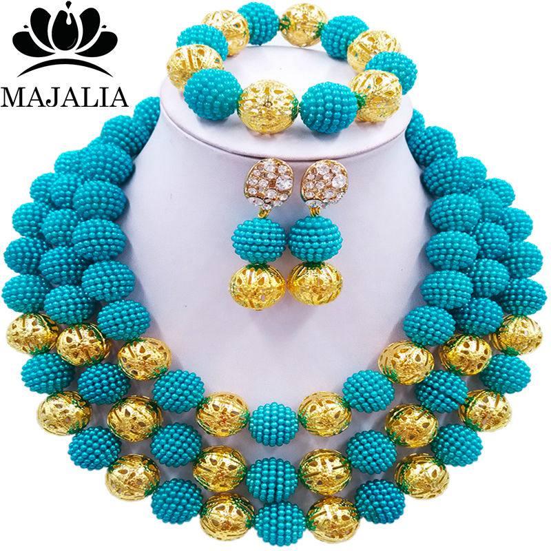 Majalia Fashion Nigeria Wedding African Beads Jewelry Set Blue Crystal Necklace Bridal Jewelry Sets Free shipping 3BU017Majalia Fashion Nigeria Wedding African Beads Jewelry Set Blue Crystal Necklace Bridal Jewelry Sets Free shipping 3BU017