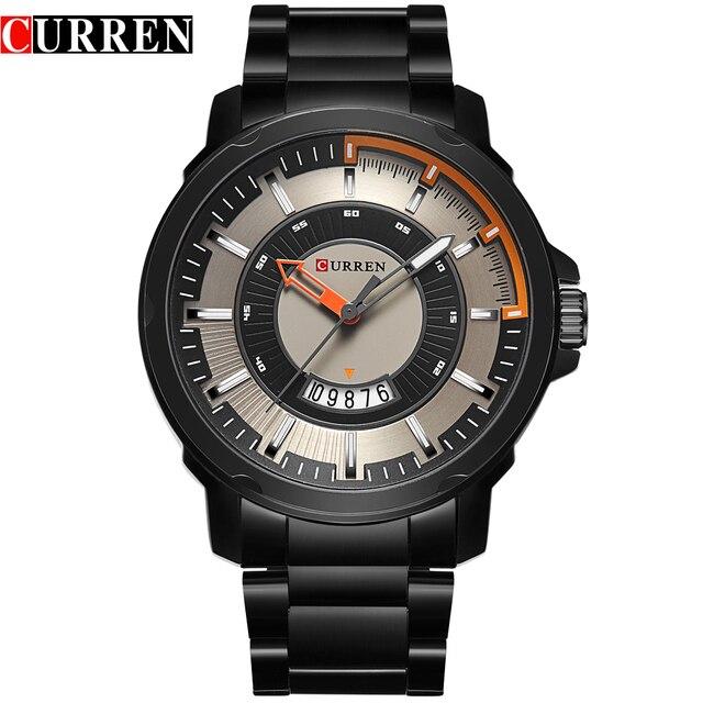 Luxury Brand Relogio Masculino CURREN мужские Кварцевые Часы Аналоговые спортивные Наручные Часы Отображения Даты Бизнес Мужчины Часы