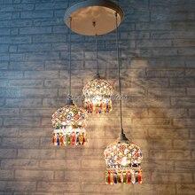 Bohem Avizeler Colorfull K9 Kristal Droplight 3 ligfts Beyaz Tavan Lambası Cafe Bar Mağaza Hall Kulübü Kahve Dükkanı Dekor