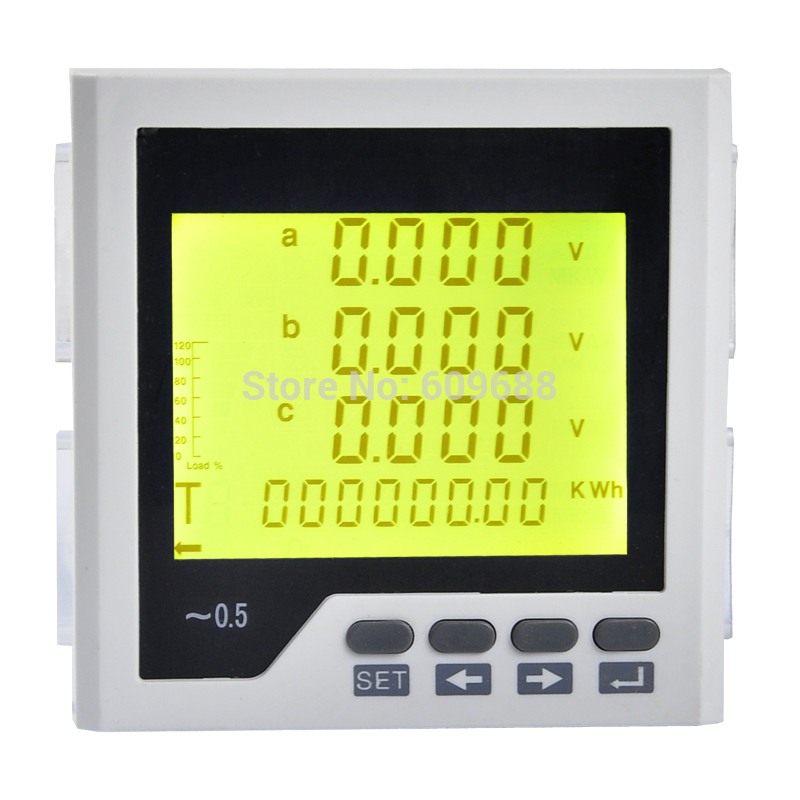 Digital Three-phase LCD Multifunction Power Meter Digital Network InstrumentDigital Three-phase LCD Multifunction Power Meter Digital Network Instrument