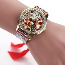 Sizzling Important relogio feminino Vogue Ladies's Women Braided Band Rhinestone Analog Quartz Wrist Watches march7