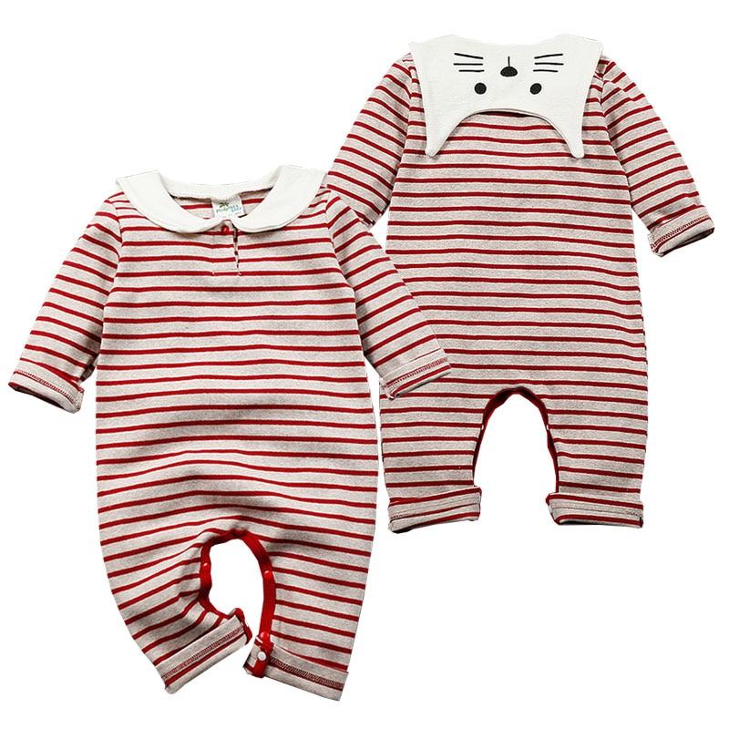 ea75586d7 ᐊ2017 New Spring Newborn Baby Romper Navy Striped Romper Baby Boy ...