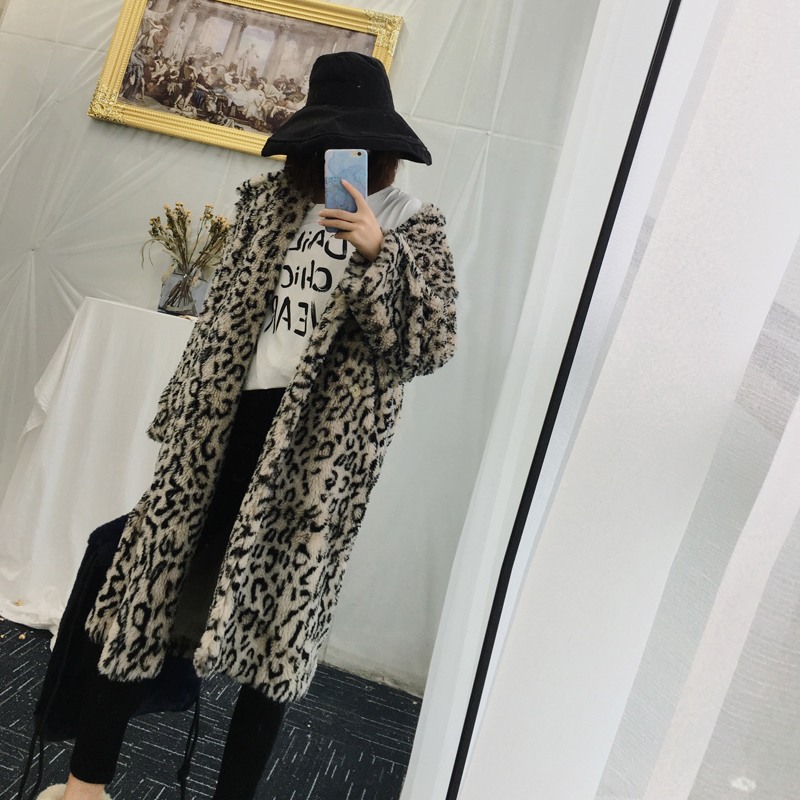5ee8d8016c0a Luxury Fashion Leopard Long Teddy Bear Jackets Coats Women 2018 Winter  Thick Warm Outerwear Brand Fashion Faux Fur Coat Female-in Faux Fur from  Women's ...