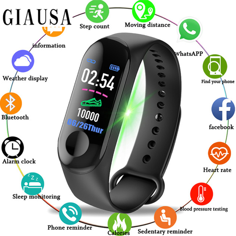 Sport Smart Bracelet Blood Pressure Heart Rate monitor Color Screen Smart Watch Fitness Wristband Tracker For Men Women watches