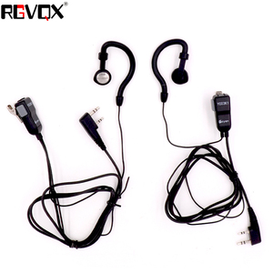 Image 2 - G Şekli Kulak Kancası 2 adet Mic Kulaklık Walkie Talkie Kulaklık Kenwood Için Baofeng Linton Wouxun Puxing 2 pin Radyo