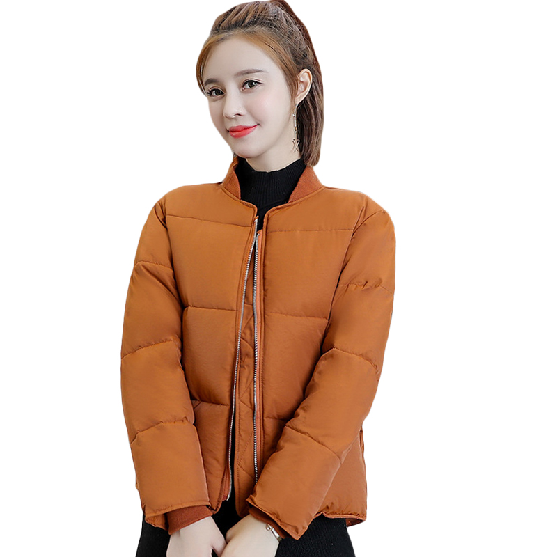 2018 New Winter Parkas Woman Down Cotton Jacket Female Students Loose Bread Autumn Short Coat Thick Casual Coat Outwear CM802