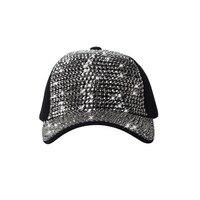 נשים שחורות סגנון החדש Snapback כובעי היפ הופ כובע בייסבול מתכוונן כובעי צמר חורף ספורט ריינסטון המבריק