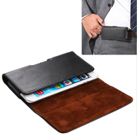 Universal Horizontal Style Leather Case Waist Bag Pouch For IPhone 6 Plus 5 5 For Samsung