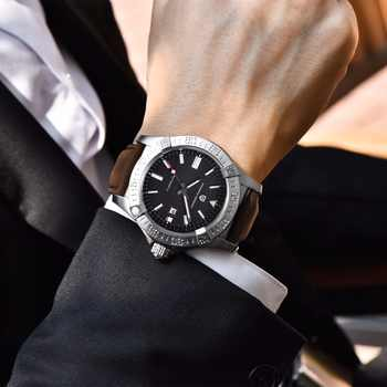 PAGANI DESIGN Men\'s Classic Mechanical Watch 30 m waterproof silicone strap Brand luxury stainless steel self-winding watches