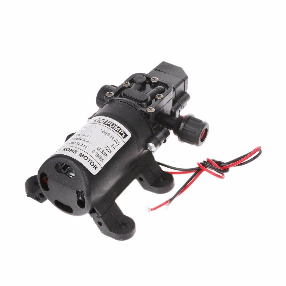 6L/Min DC 12V 70W 130PSI Water High Pressure Pumps Diaphragm Self Priming Pump 6l min 70w 12v dc food grade beverage diaphragm pump