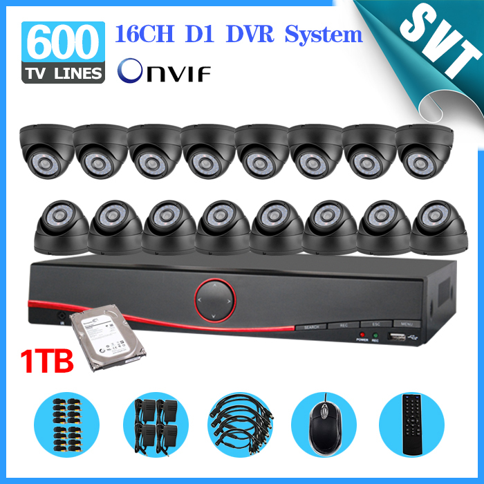 NVR Home CCTV 16CH security DVR 1TB hard disk Day Night IR Camera Kit Color Video Surveillance System motion detection SNV-58 new gr laptop keyboard with frame for samsung 355v5c 350v5c 355 v5x german keyboard
