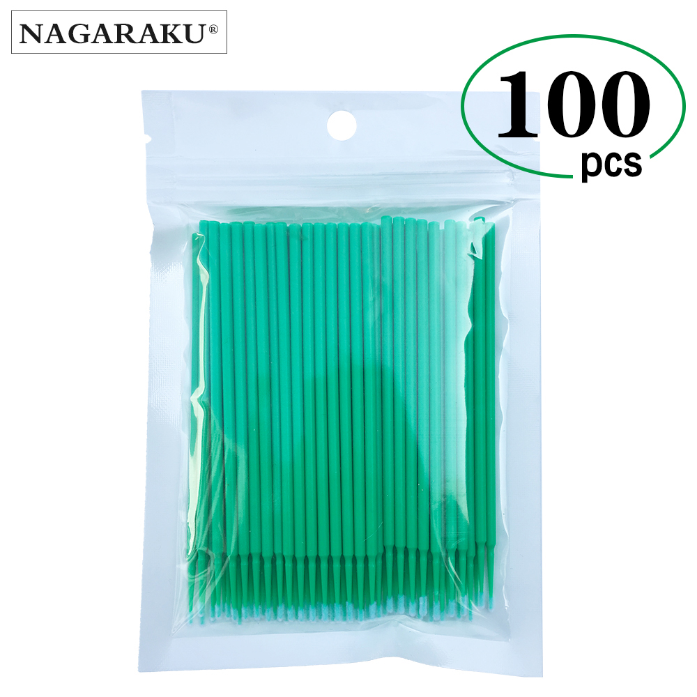 100pcs/lot Micro Durable Disposable Eyelash Extension Individual Applicators Mascara Brush For Women Eyelash Glue Cleaning Tool