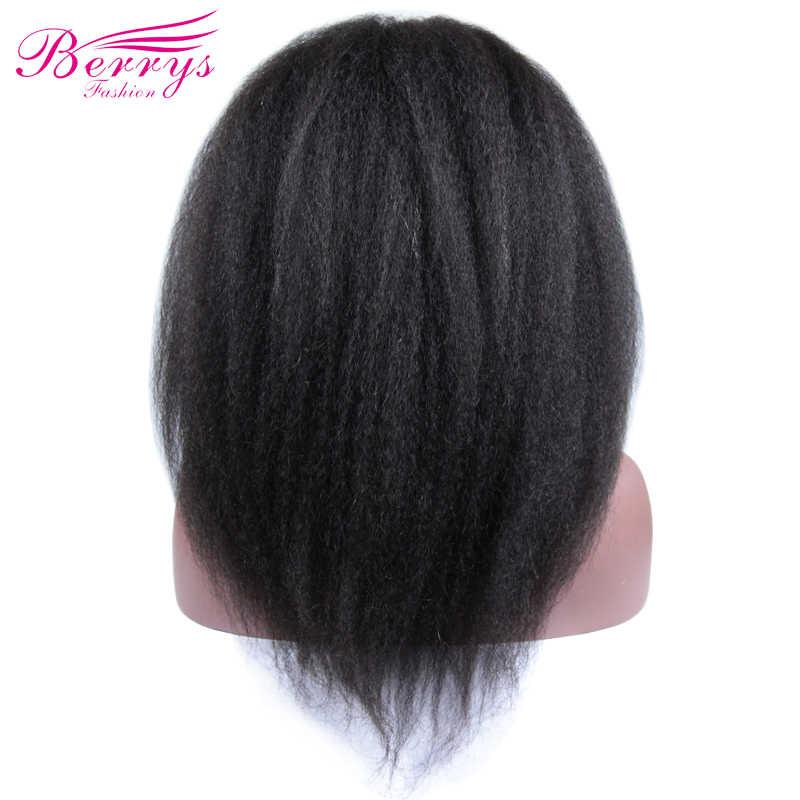 [Berrys Moda] Tam sırma insan saçı Peruk Sapıkça Düz 130% Yoğunluk Doğal Saç Çizgisi Ücretsiz Bölüm Perulu Bakire Saç