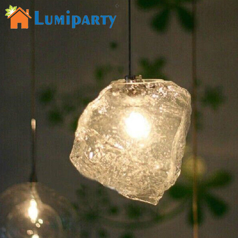 LumiParty LED Pendant Lamp 1 PCS Modern Bar Ice Cube Rock Lighting Restaurant Pendant Lamp light for livingroom bar runaway