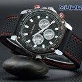 Curren relojes de moda de primeras marcas de lujo del cuarzo del reloj masculino deporte de los hombres reloj militar diseño ocasionales de los hombres de regalo relojes