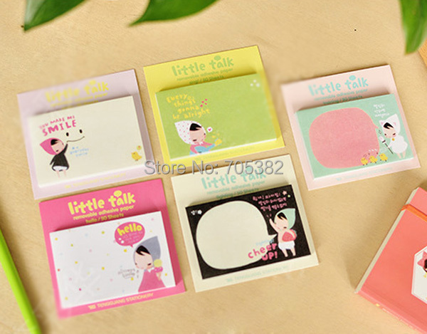 1PC/lot Kwaii girl Notepad,Note Memo,Korean stationery, sticky Scratch notes,message post (ss-8959)