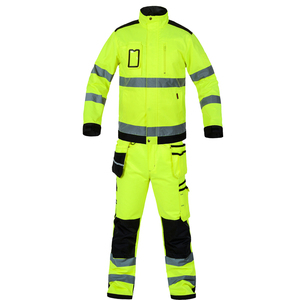 Image 5 - Bauskydd reflective workwear jacket work trousers with knee pads free shipping