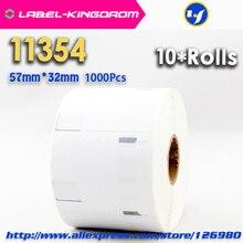 10 rollos dymo compatible 11354 etiqueta 57mm * 32mm 1000 unids compatible para labelwriter 400 450 450 turbo impresora seiko slp 440 450
