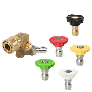 Image 1 - Garden Sprinkler Pressure Washer Accessories Washer Spray Nozzle Tips Quick Connecting Coupler Brass soap nozzle tip 2019