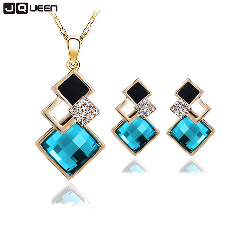 New Fashion Geometry Square Jewellery Set Wedding Jewerly Sets For Women With Bl