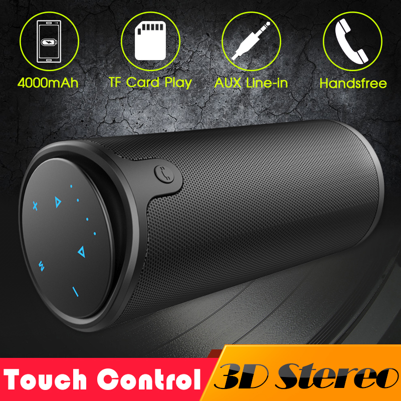 ZEALOT S8 3D Stéréo enceintes portables bluetooth caisson de basses sans fil Touch Control TF Carte AUX Jouer Avec Microphone