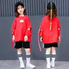 Jazz Dance Costumes for Girls Casual Hip Hop Dance Clothes Modern Ballroom Dancewear Children Street Dance Performance Wear boys modern jazz dancewear outfits kids hip hop party ballroom dance costumes sweatpants hoodie costumes tracksuit outfits