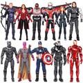 New Avengers 3 17 cm PVC Action Figure Toy Civil War Captain America Iron Man Black Widow Black Panther Scarlet Witch Ant Man