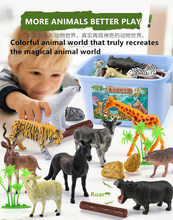 цены Animal Series Model Figures Big Building Blocks Animals Educational Toys for Kids and wisdomChildren Gift Compatible Duploed Kid