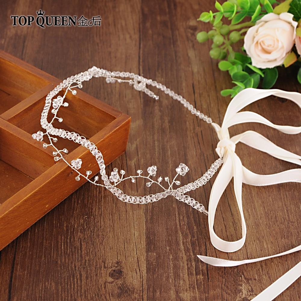 TOPQUEEN HP124 Romantic Wedding Hair Accessories Shining Rhinestones & Crystal Hair Crown Bridal Headband Party Jewelry