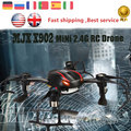E T MJX X902 Mini Drone RC Quadcopter 2.4G 4CH 6-Axis Gyro UFO Helicóptero Sem Cabeça Flip 3D com Luzes LED para a Noite vs FQ777
