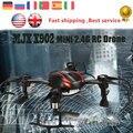 E T MJX X902 Mini Drone RC Quadcopter 2.4G 4CH 6-Axis Gyro UFO Sin Cabeza Helicóptero Flip 3D con Luces LED para La batería vs FQ777