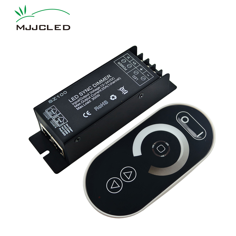 LED Dimmer DC 12 24V 300W 1 Channel LED Touch Dimmer Remote Control RJ45 Synchronous RF Wireless Dimmer for LED Strip Light infrared remote control w led dimmer for led light stripe white