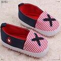 0-2 años de edad, niña de primera caminata zapato cruz diseño infantil del bebé zapatos para caminar sapatinho de bebe menina 481
