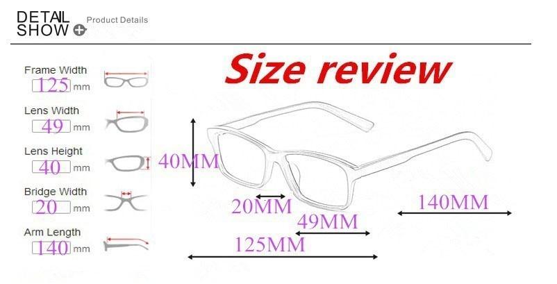 Yefree Neutro Metà telaio Struttura in metallo Occhiali per la miopia Lenti in resina Nearsight -4.50-5.00 -5.50-6.00 Mm3xptUzY